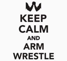 Keep calm and arm wrestle One Piece - Short Sleeve