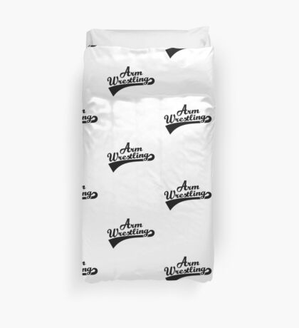 Arm wrestling Duvet Cover