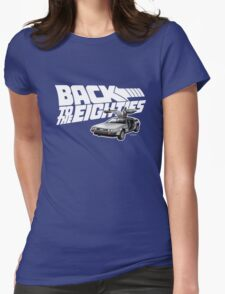 Delorean Back to the Future 80s Style Womens Fitted T-Shirt