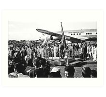 Welcome Ceremony. President Eisenhower in The Philippines. Art Print