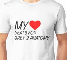 My Heart Beats For Grey's Anatomy Unisex T-Shirt