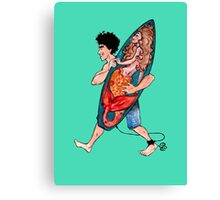 Lucky Surfboard Canvas Print