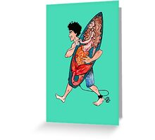 Lucky Surfboard Greeting Card