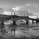 Wade's Bridge at Aberfeldy - B&W by Tom Gomez