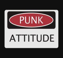 PUNK ATTITUDE, FUNNY FAKE SAFETY SIGN Kids Tee