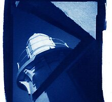 Taking Point Lighthouse - Cyanotype by David Amos