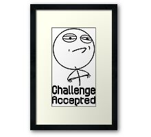Challenge accepted nerd geek funny geeky Framed Print