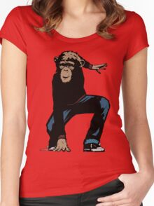 Monkey Street Fighter Women's Fitted Scoop T-Shirt