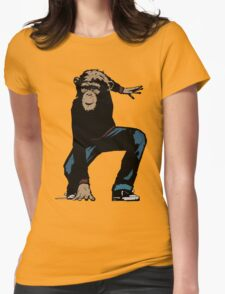 Monkey Street Fighter Womens Fitted T-Shirt