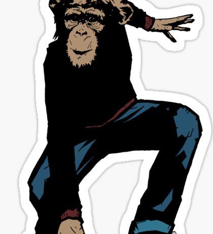 Monkey Street Fighter Sticker