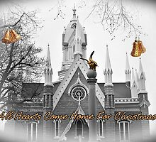 All Hearts Come Home For Christmas by Greeting Cards by Tracy DeVore