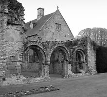 Chapter House Much wenlock Abbey Shropshire by Lawson Clout