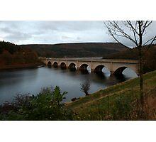 Lady Bower Reservoir Bridge Photographic Print