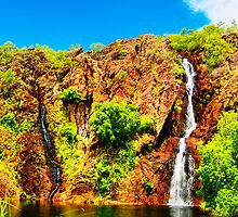 Wangi Falls at Litchfield National Park by Geoffrey Thomas