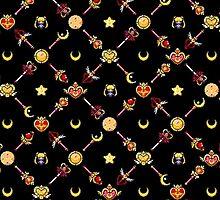 Sailor Moon Diagonal - Black by uenki