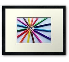 Colourful zoom Framed Print