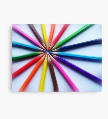 Colourful zoom Canvas Print