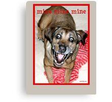 Funny Mattie 2 Canvas Print