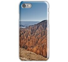 Red rock formations in the Canon Del Inca iPhone Case/Skin