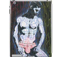 Linear color guy iPad Case/Skin
