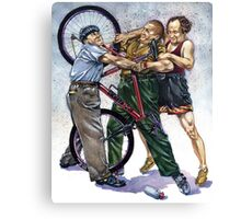 Stooges New Bike Trouble Canvas Print