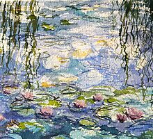 Monet's lilies at Giverny by Elizabeth Moore Golding