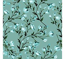 Blue flowers pattern Photographic Print