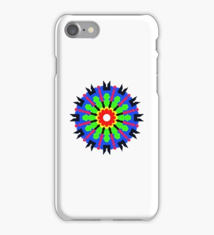 Circle abstract multicolored pattern iPhone Case/Skin