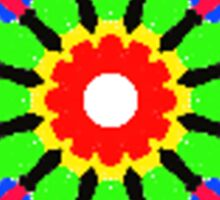 Circle abstract multicolored pattern Sticker