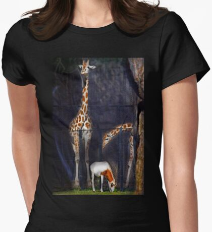 Hi There Oryx Womens Fitted T-Shirt
