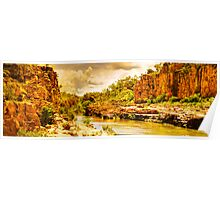 Cruising Katherine Gorge in the wet season Poster