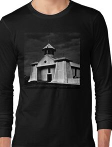 OUR LADY OF GUADALUPE AT DUSK WITH RAIN Long Sleeve T-Shirt