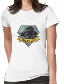 MGS - DIAMOND DOGS Logo Womens Fitted T-Shirt