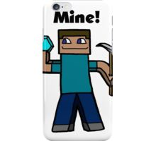 Minecraft Mining art iPhone Case/Skin