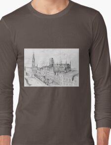Gdansk panorama Long Sleeve T-Shirt
