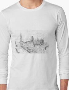 Gdansk panorama Long Sleeve T-Shirt