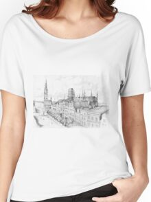 Gdansk panorama Women's Relaxed Fit T-Shirt