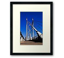 Suspension Bridge & Walkway - Rendition Framed Print