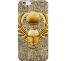 Gold Egyptian Scarab iPhone Case/Skin