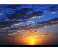 Sunset behind the wire Photographic Print