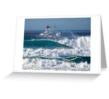 Seagoing Fishing Boat Greeting Card