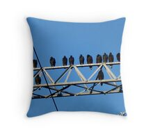 Buzzard Power Throw Pillow
