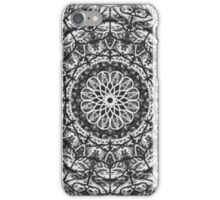 Black white abstract pattern iPhone Case/Skin