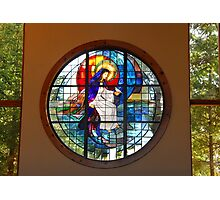 Our Lady of the Lake Stained Glass Photographic Print