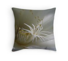 Morning Sun on Epiphyllum Blossom  Throw Pillow
