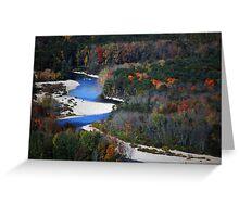 Saco River Greeting Card