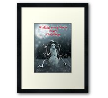Wishing you a Merry Scary Christmas Framed Print