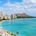 Waikiki Beach and Diamond Head - Honolulu by GraceNotes