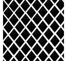 Black and White Diamonds Photographic Print