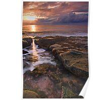 through the gap - sunrise, bawley point, australia Poster